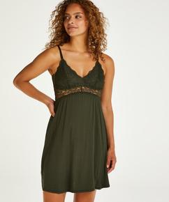 Slipdress Jersey Lace Vera, grün