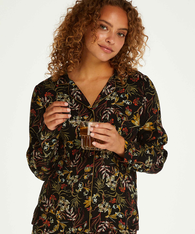 Pyjamatop langärmelig Dragonfly, Schwarz, main