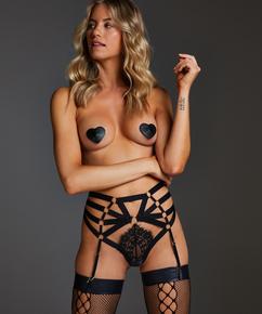 Hochgeschnittener String Femme, Schwarz