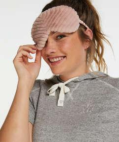 Kunstpelz-Schlafmaske, Grau