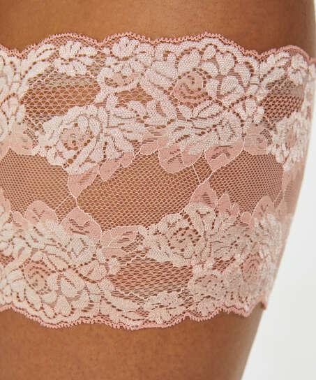 Oberschenkelband aus Spitze, Rose