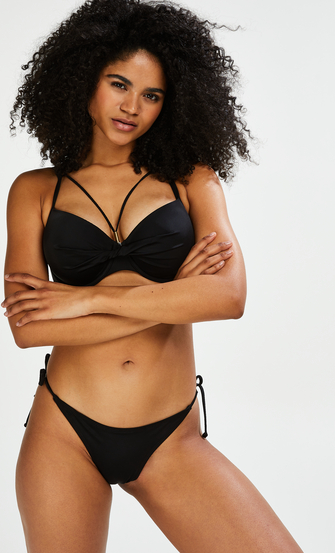 String Bikini-Slip Sunset Dream, Schwarz