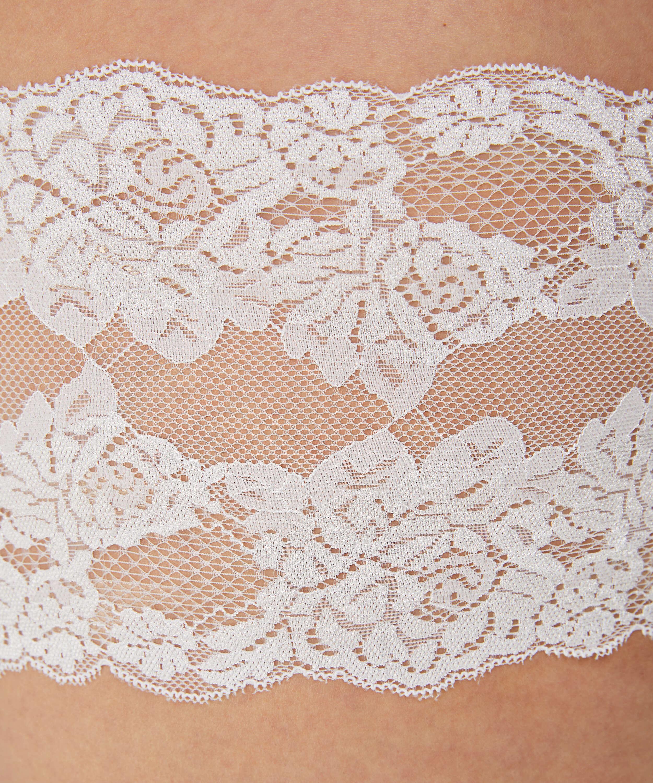 Oberschenkelband aus Spitze, Weiß, main