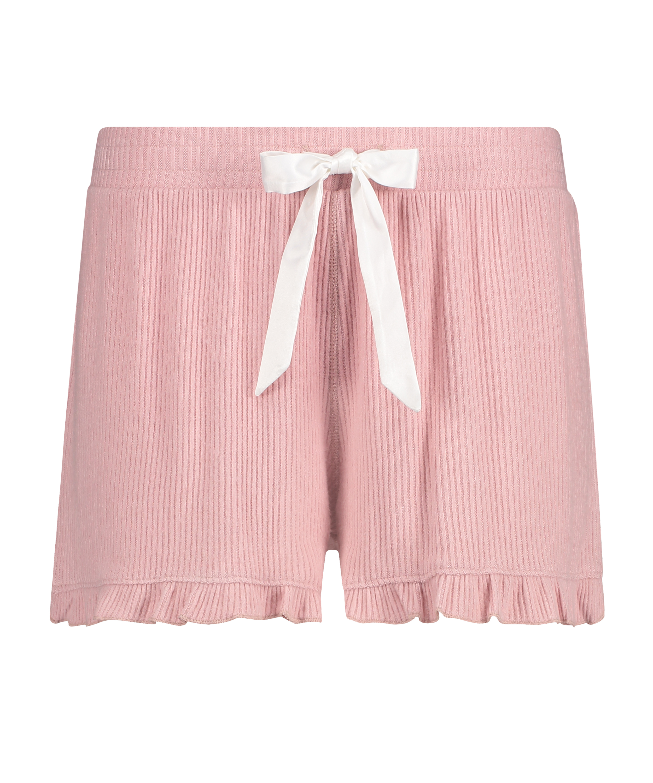 Shorts Brushed Rib Lace, Rose, main