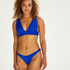 Bikini-Slip mit hohem Beinausschnitt Luxe, Blau