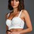 Vorgeformter Strapless-Bügel-BH, Longline-Modell Hannako, Weiß
