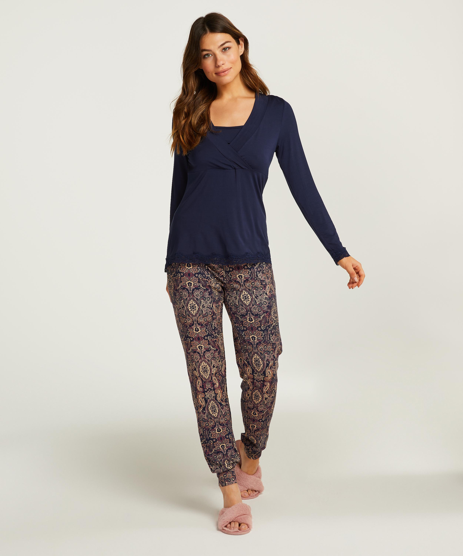 Pyjama-Set für das Stillen , Blau, main