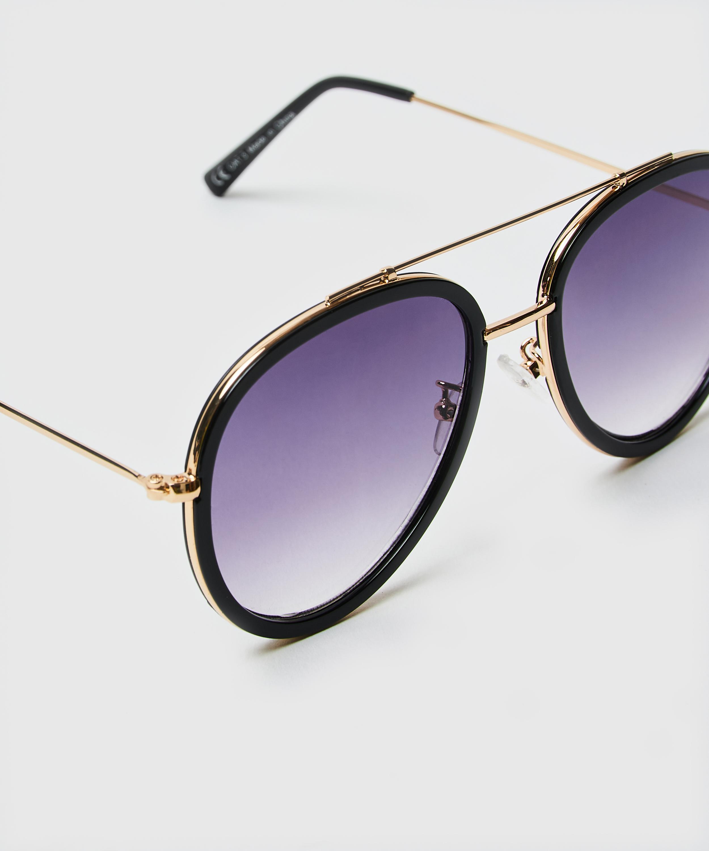 Sonnenbrille Aviator, Schwarz, main