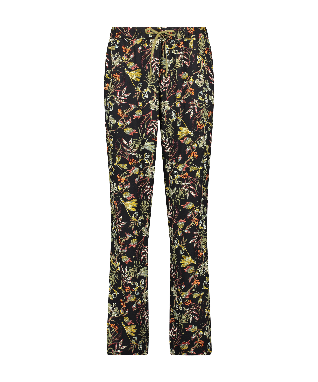 Pyjamahose Woven, Schwarz, main