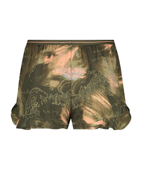 Pyjama-Shorts, grün