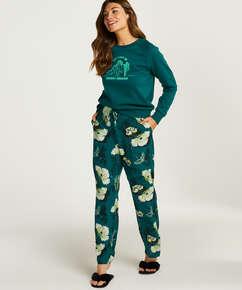 Pyjamahose Woven, Grau