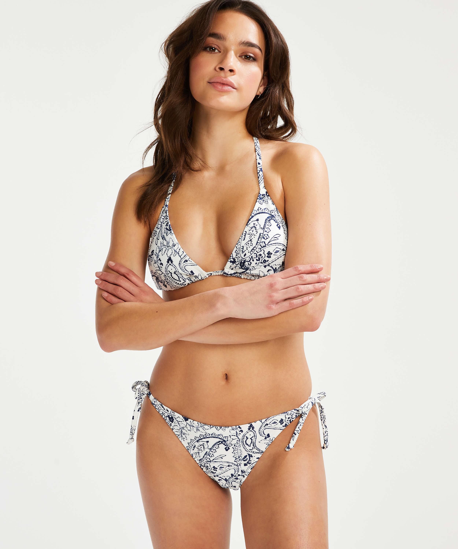 Brazilian tanga Bikini-Slip Paisley, Weiß, main