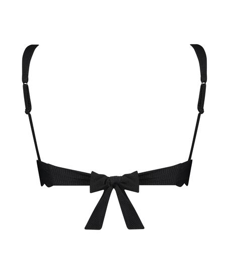 Triangel-Bikini-Oberteil Scallop, Schwarz