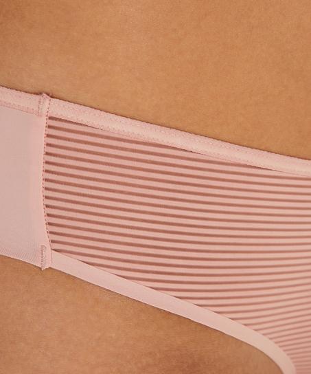 Invisible Brazilian Stripe Mesh, Rose
