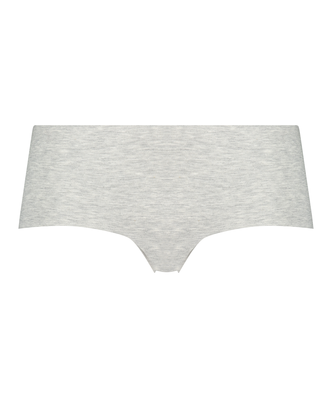 Invisible Boxershort aus Baumwolle, Grau, main