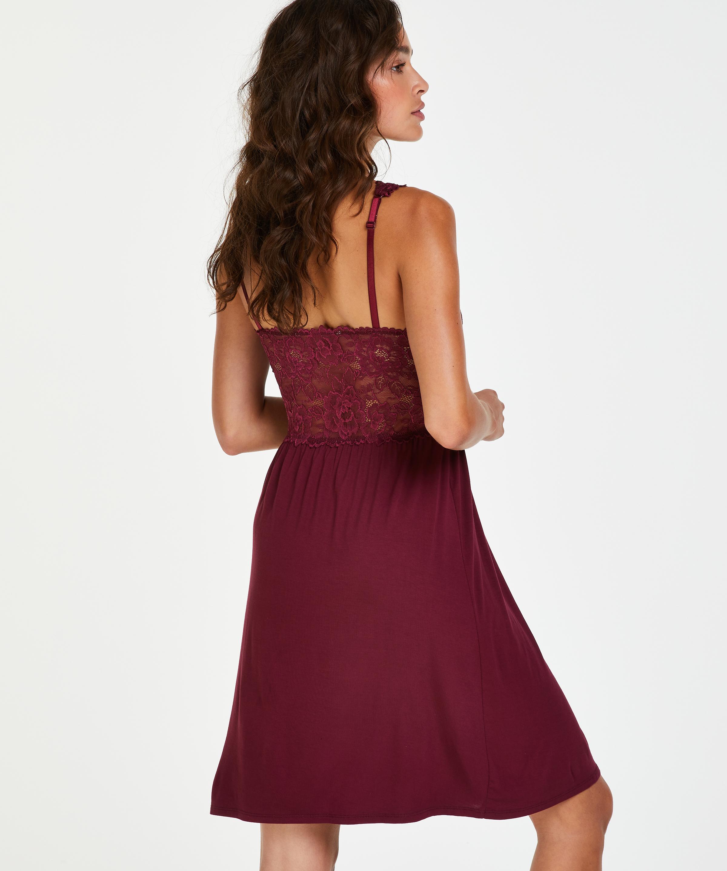 Slipdress Modal Lace, Rot, main