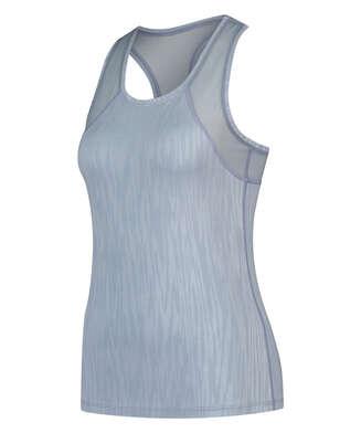 HKMX Sport slim fit tank top, Blau