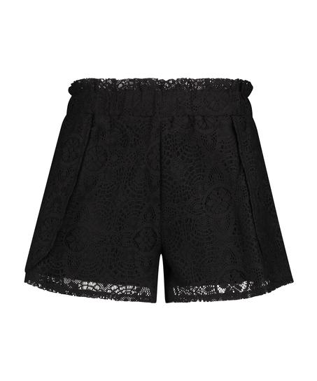 Shorts Lace, Schwarz