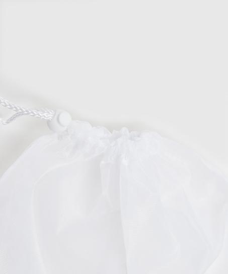 Waschbeutel Kordelverschluss, Weiß