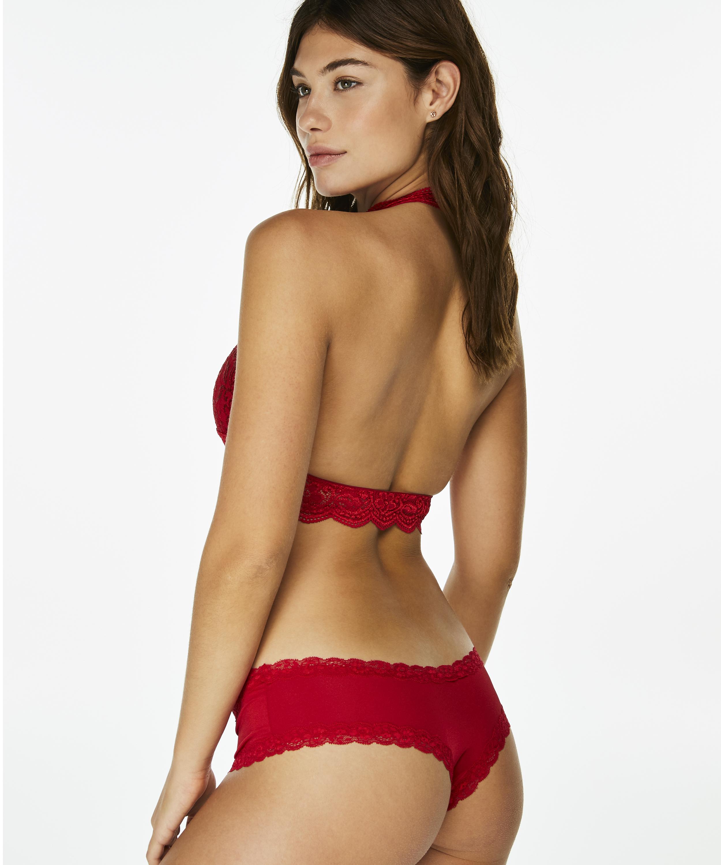 Bralette Halter Lace, Rot, main