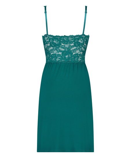 Slipdress Modal Lace, grün