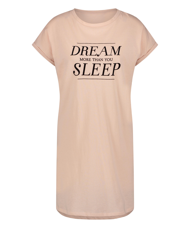 Kurzärmeliges Nachthemd Dream, Rose, main