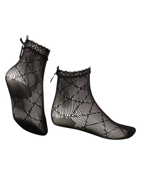 1 Paar Mesh-Socken Rebecca Mir, Schwarz