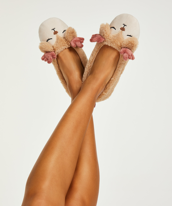 Pantoffeln Ballerina, Beige, main
