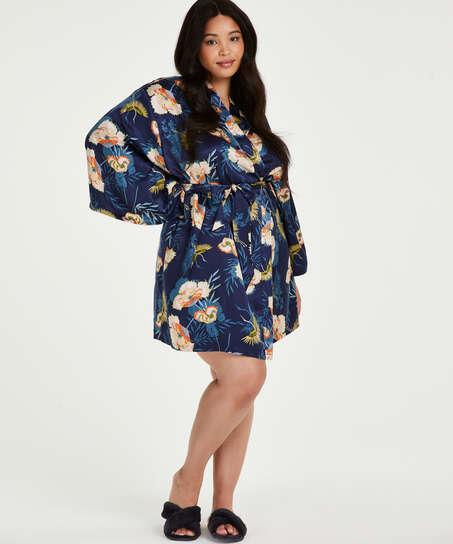 Kimono Lotus Vogel, Blau