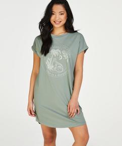 Nachthemd Rundhalsausschnitt, grün