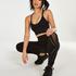 HKMX Nahtlose Sportlegging mit hoher Taille Comfort, Schwarz