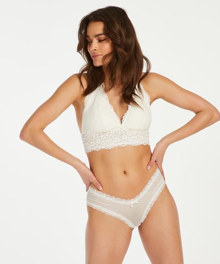 Brazilian V-shape mesh, Weiß