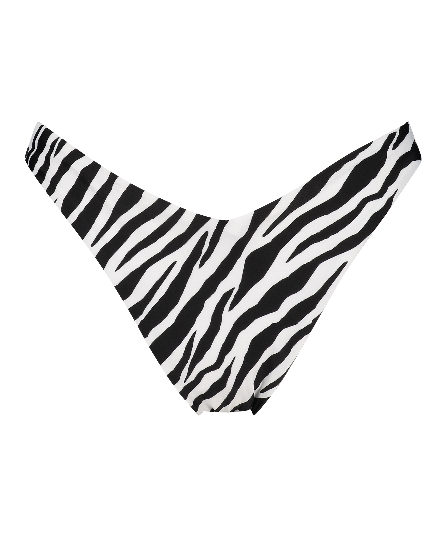 Bikini-Slip mit hohem Beinausschnitt HKM x NA-KD, Weiß, main