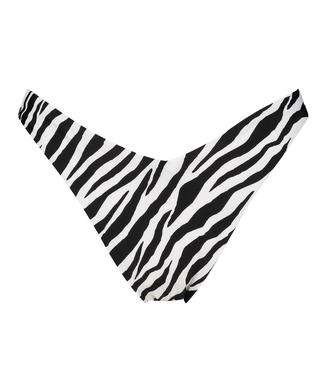 Bikini-Slip mit hohem Beinausschnitt HKM x NA-KD, Weiß